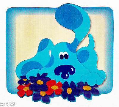 "3/"" Blues clues on cloud blanket peel /& stick wall border cut out character"