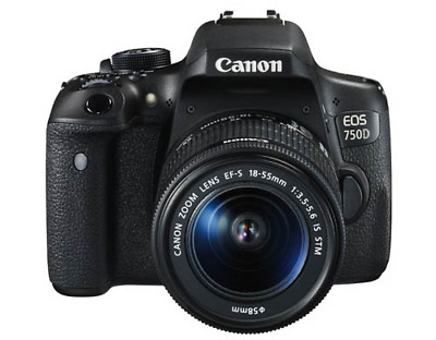 A - Canon EOS 750D Digital SLR Camera with 18-55mm Lens
