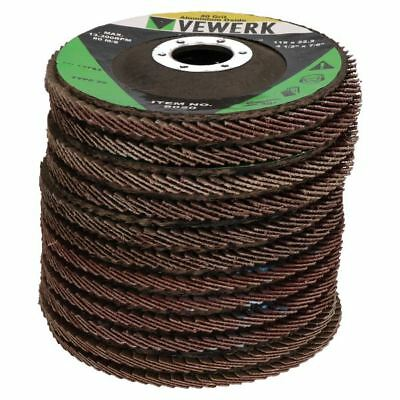 """12 x Flat Flap Discs Mixed Grit For Angle Grinder 4.5"""" (115mm) Sanding Grinding"""