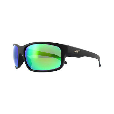 e73aa5e3d4 Arnette Sunglasses Fastball 4202 01/1L Matte Black Grey Mirror Green  Polarized