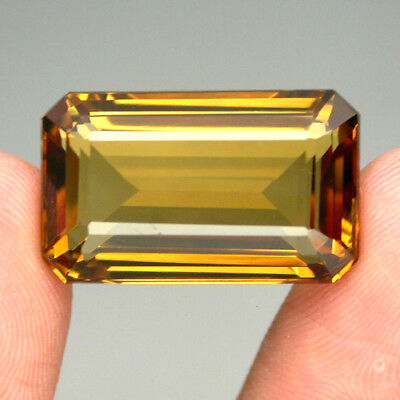 Citrine Clean 24.44ct Octagon Cut 21x13mm 100%natural Top Yellow Golden Brazil