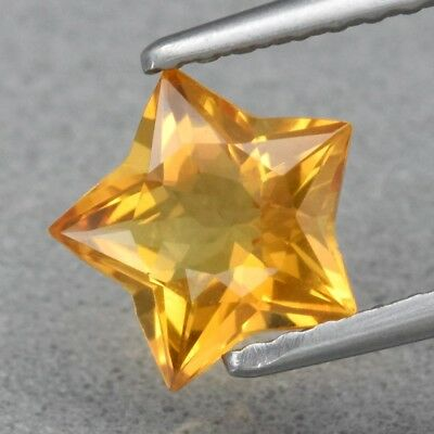Top! VVS 0.81ct 7x6.7mm Star Natural Yellow Citrine, Brazil