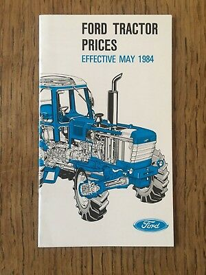 1984 Ford Tractor Price List 1210 - 4610 - 5610 6610 7610 7710 8210 TW-35 FW-60