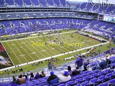 3 Tickets New York JETS @ vs Baltimore RAVENS 12/12/19 Section 531 Row 26 TNF
