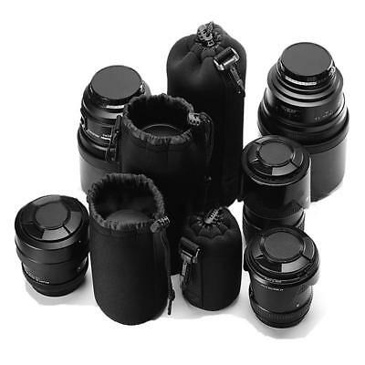 Digital SLR camera soft lens cap cover  with padded 4 piece set -S / M / L / XL