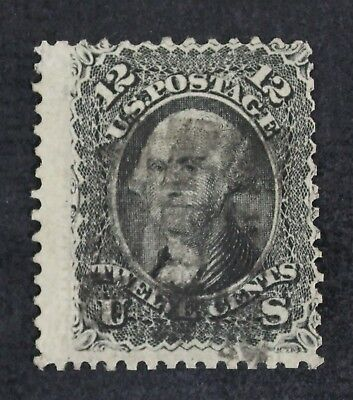 CKStamps: US Stamps Collection Scott#90 12c Washington Used Lightly Crease