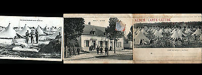 CAMP de MAILLY (10) BUREAU de POSTE & CAMPEMENTS / Album Carte-Lettre 10 vues
