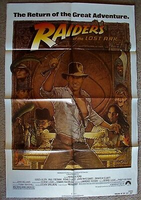 RAIDERS OF THE LOST ARK Original 1-Sheet POSTER Richard Amsel Art  HARRISON FORD