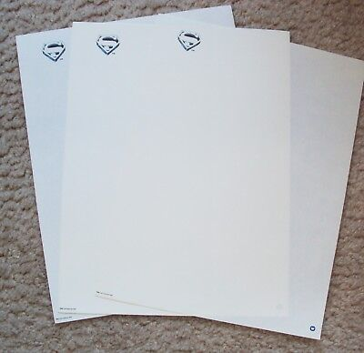 SUPERMAN Textured STATIONARY Original CHRISTOPHER REEVE Warner Bros PROMOTIONAL