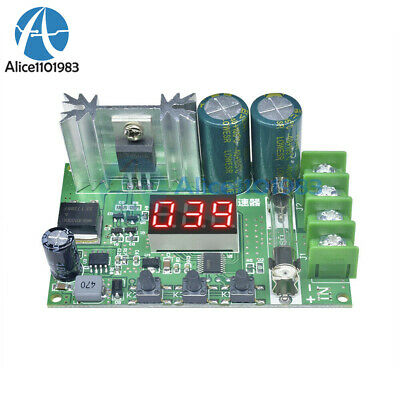 Digital Display PWM Motor Speed Controller 600W 10A Governor Regulator DC 12-60V