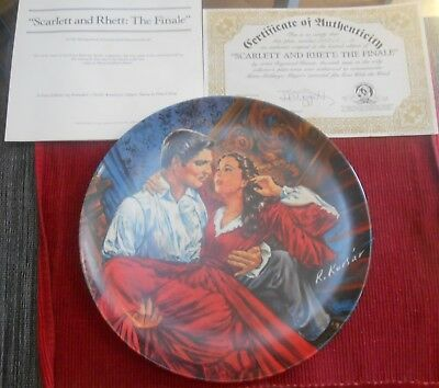 Scarlett And Rhett The Finale - Collector Plate Edwin Knowles Gone With The Wind