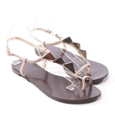 7977aaa31e0c Giuseppe Zanotti Sandales Taille D 41 Beige Chaussures Femmes Plates Tongs