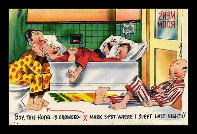 Dr Jim Stamps Us Boy This Hotel Is Crowded Comic Linen Topical Postcard