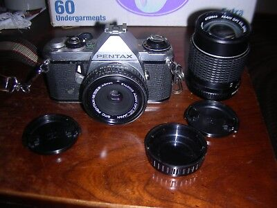 pentax 35mm camera filter/lens and case