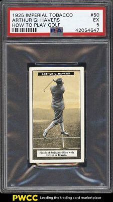1925 Imperial Tobacco How To Play Golf Golf Arthur G. Havers #50 PSA 5 EX (PWCC)