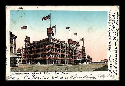 Dr Jim Stamps Us Greetings From Old Orchard Maine Hotel Velvet View Postcard