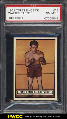 1951 Topps Ringside Walter Cartier #33 PSA 8 NM-MT (PWCC)
