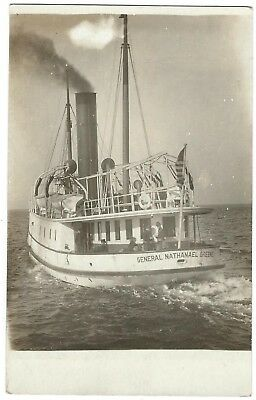 RPPC USAV General Nathanael Greene LT 801 US Army Tugboat 1907-09 Photo Postcard