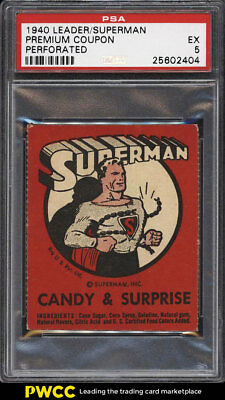 1940 Leader Novelty Perforated Candy Superman Premium Coupon PSA 5 EX (PWCC)