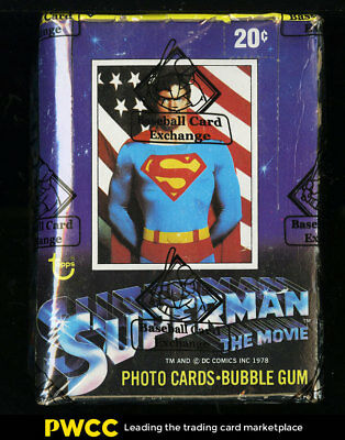 1978 Topps Superman Wax Box, 36ct Wax Packs, BBCE Auth (PWCC)