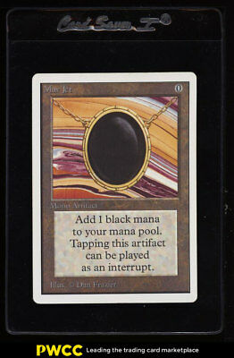 1993 Magic The Gathering MTG Unlimited Mox Jet R A (PWCC)