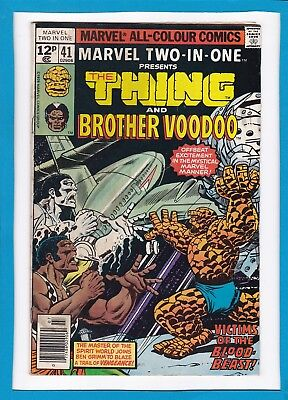 Marvel Two-In-One #41_July 1978_Fine+_The Thing_Brother Voodoo_Bronze Age_Uk!