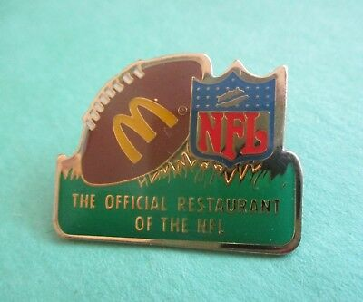 The Official Sponsor of the NFL - McDonald's Restaurant Pin