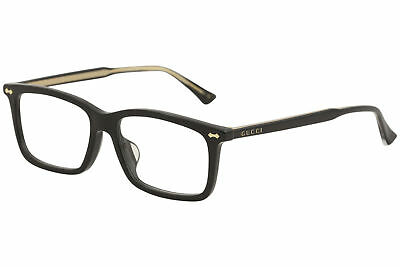 a9aa255b2af8 Gucci Eyeglasses GG0191OA GG/0191/OA 001 Black Optical Frame 54mm (Asian Fit