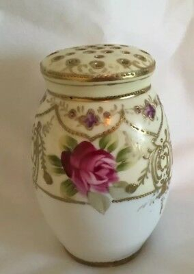 Nippon Hand-Painted Vanity Powder shaker Antique