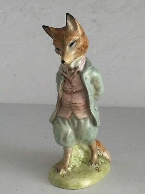 Vintage Beatrix Potter's FOXY WHISKERED GENTLEMAN Beswick Figurine 5""