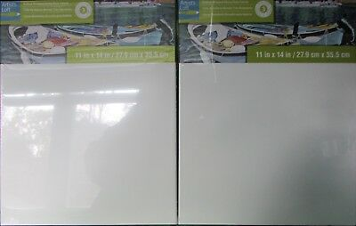 NEW Lot of 2 Artist Loft Gallery Wrapped Canvas 11x14 Level 3 Art Supplies