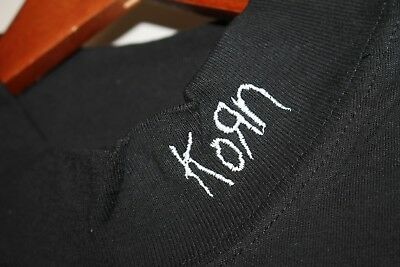 XL * NOS vtg 90s KORN Issues embroidered t shirt * nu metal basics patch goth