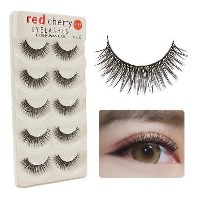 5 Pairs 3D Fake Eyelashes Long Thick Natural False Eye Lashes Set Mink Makeup·