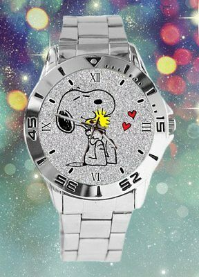 Peanut's Snoopy and Woodstock Adult Stainless Steel  Wrist Watch. Quartz.  NEW