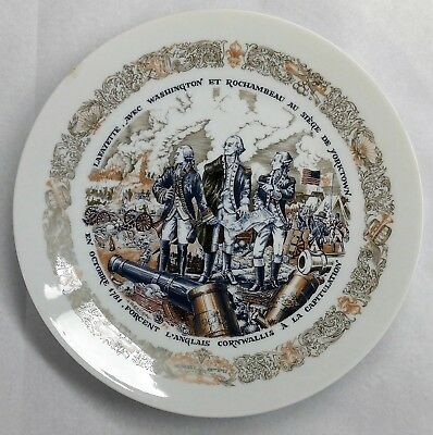 1975 D'arceau Limoges Lafayette Legacy Collection Plate Number 6 With COA