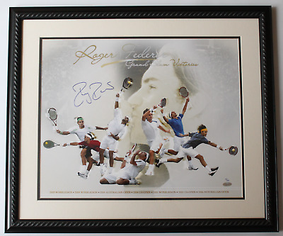 Roger Federer signed autographed framed limited edition 16x20 photo! Steiner COA