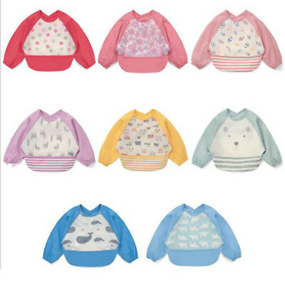 Children Baby Waterproof Long Sleeve Food Feeding Saliva Bibs Apron Smock LG