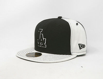 92883f0c453e28 ... coupon code new era 59fifty hat mens mlb los angeles dodgers black  white fitted 5950 cap