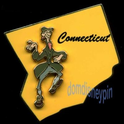 Disney Pin Character State Collection *Connecticut* Ichabod Crane (3D)!