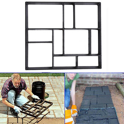 UK Plastic Path Maker Mold Paving Cement Brick Stone Road For Garden Walkway New