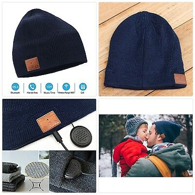 NERAON Newest Bluetooth 5.0 Wireless Bluetooth Beanie with Detachable HD Stereo