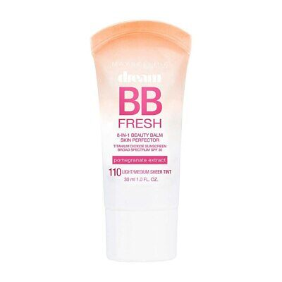 Maybelline Dream Fresh BB Cream, Light/Medium 110, SPF 30, 1 fl oz