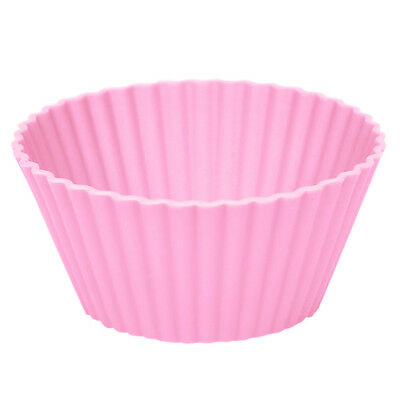 Silicone Round Cup Cake Muffin Cupcake Cases Baking Cup Baking Moulds Lot