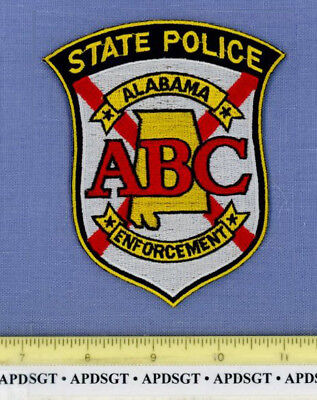 ALABAMA ABC ENFORCEMENT ALCOHOLIC BEVERAGE CONTROL State Police Patch ALCOHOL