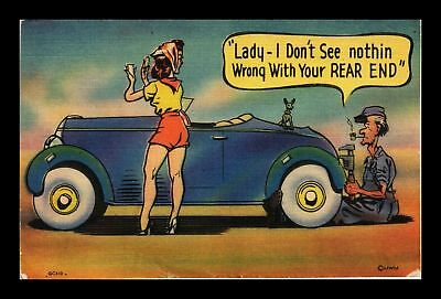 Dr Jim Stamps Us Lady Nothing Wrong With Your Rear End Comic Linen Postcard