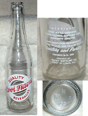 Vint, Crowntop Soda Bottle,Quality Cool Flavor Beverages, East St Louis Illinois