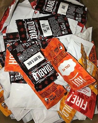 Fresh 80 Taco Bell packet hot sauces! Mild, Hot, Fire, and Diablo