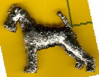 Airedale Terrier Nickel Silver Brooch Pin Jewelry