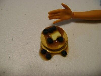 Barbie Dollhouse Food Blueberry Pancake Stack with butter and syrup    NEW