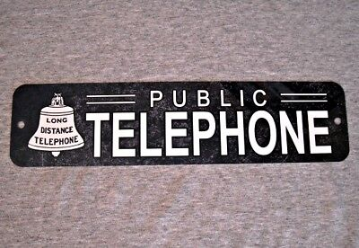 Metal Sign TELEPHONE public pay coin vintage replica phone booth #2 coin-op